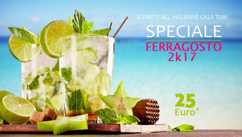 speciale-ferragosto-2017-offerta-25-euro-il-party-a-casa-tua-festa-a-casa-in-piscina-cocktail-drink-mohito-lime-limone-ghiaccio-bicchieri-long-drink-mare-orizzonte-azzurro-verde-acqua - ferragosto 2k17 - menta-